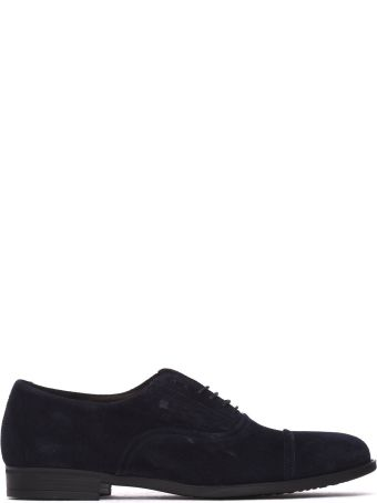 Fratelli Rossetti One Lace-up Shoe In Blue Navy Suede
