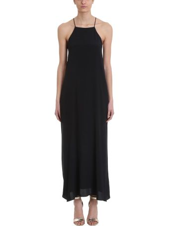 Mauro Grifoni Black Viscose Long Dress