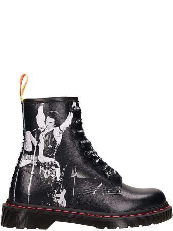 Dr. Martens Black Leather Amphibious 1460 Sxp