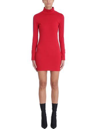 Marcelo Burlon Red Viscose Dress