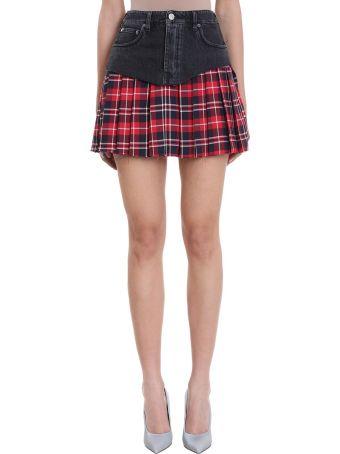 VETEMENTS School Girl Pleated Denim Skirt