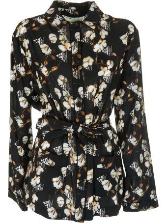 Off-White Floral Crepe Pajama Shirt
