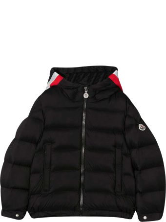 Moncler Black Teen Down Jacket