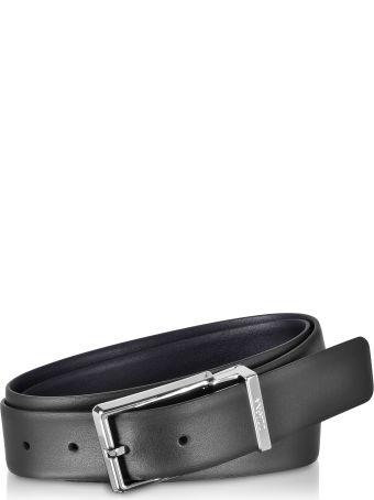 Ermenegildo Zegna Two Tone Leather Adjustable And Reversible Men's Belt
