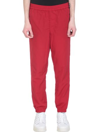 Ami Alexandre Mattiussi Track Red Nylon Pants
