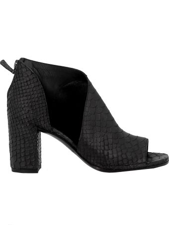 Roberto del Carlo Black Leather Ankle Boots