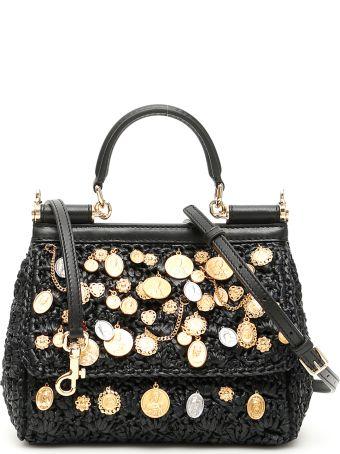 Dolce & Gabbana Small Raffia Sicily Bag