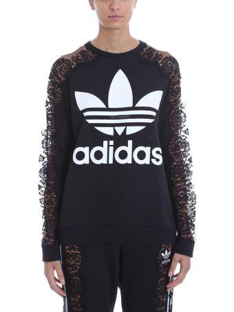 Adidas Originals Logo Lace Sleeve Sweatshirt