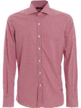 Fay Red Check Cotton Shirt