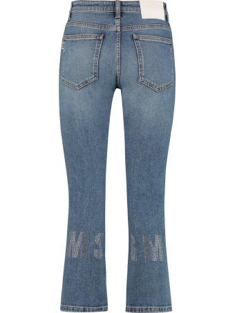 MSGM Embellished Cropped Jeans