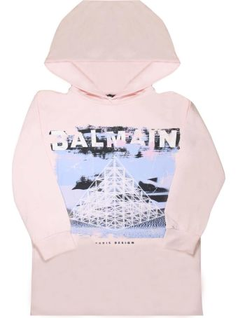 Balmain Pink Sweatshirt Dress