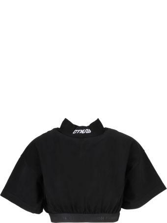 HERON PRESTON Elastic Band Cropped T-shirt