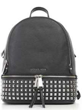 MICHAEL Michael Kors Rhea Zip Md Pyr Stud Backpack