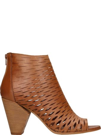 Strategia Boston Net Brown Leather Ankle Boot