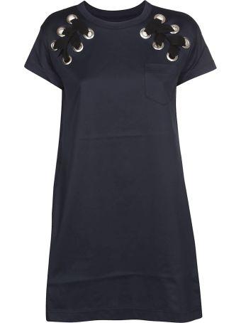 Sacai Stitched Detail Dress