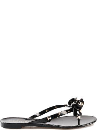 Valentino Garavani Rockstud Bow Flip Flops