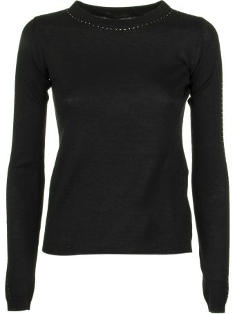 Max Mara Solange Solange Diamante-embellished Silk And Cashmere-blend Jumper