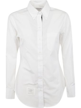 Thom Browne Classic Long-sleeve Buttoned Shirt