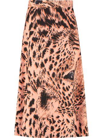 MSGM Printed Crepe Skirt