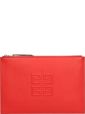Givenchy Red Emblem Large 4 G Pouch