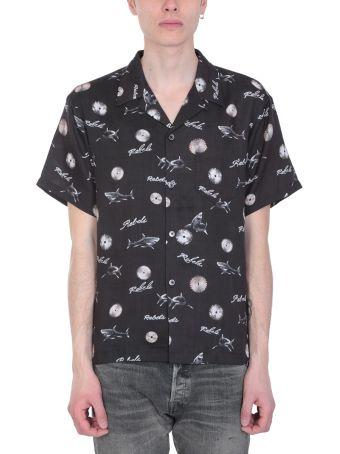 John Elliott Black Cotton Bowling Shirt
