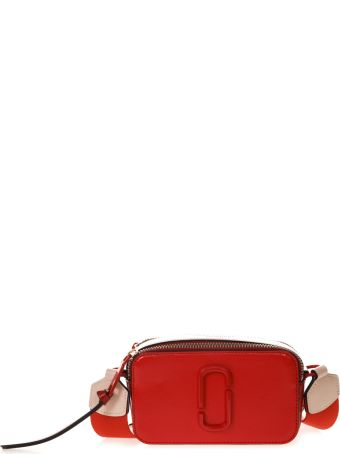 Marc Jacobs Red Snapshot Shoulder Bag In Leather