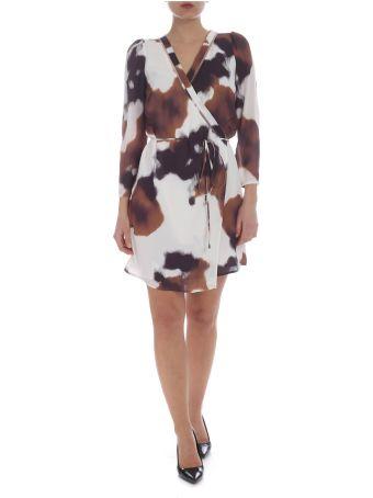 Patrizia Pepe White And Brown Dress
