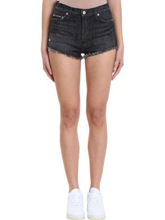 HERON PRESTON Black Denim Shorts