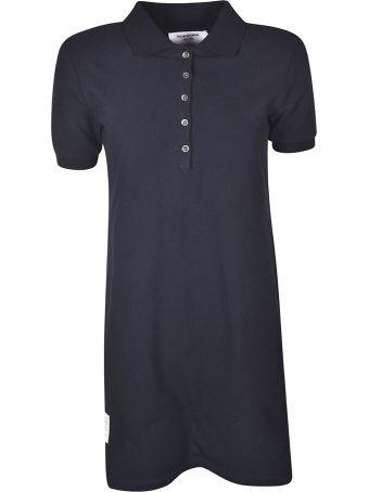 Thom Browne Striped Piqué Polo Dress