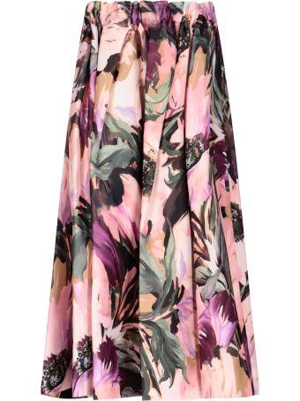 Comme des Garçons Floral Print Midi Skirt