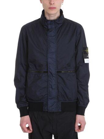 Stone Island Blue Nylon Jacket