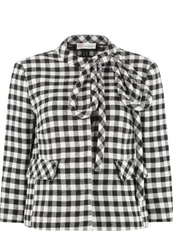 RED Valentino Short Jacket With Applied Bow