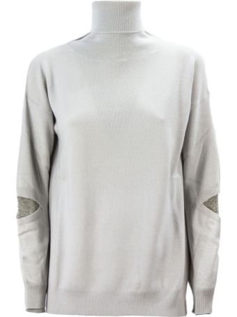 Fabiana Filippi Pearl-tone Merino Wool Blend Sweater.