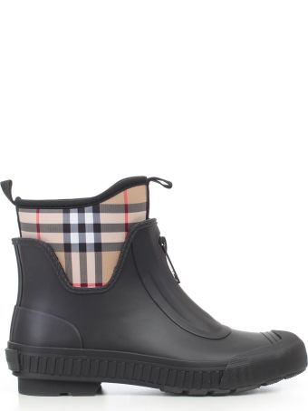 Burberry Flinton Checked Ankle Boots