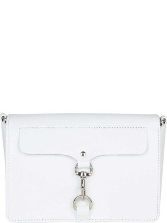 Rebecca Minkoff Mab Flap In White Leather