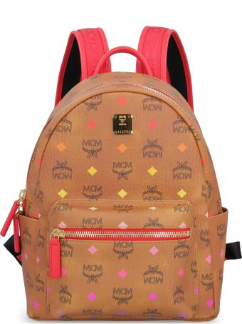 MCM Visetos Fabric Stark Backpack