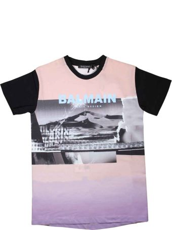 Balmain Pink And Black T-shirt