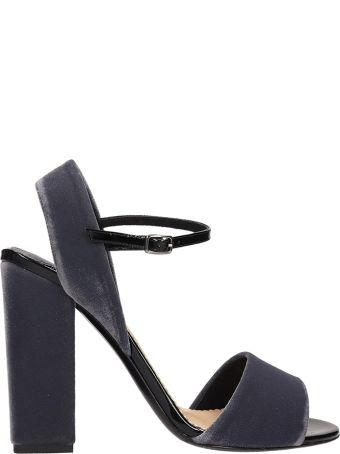 The Seller Grey Velvet Sandals