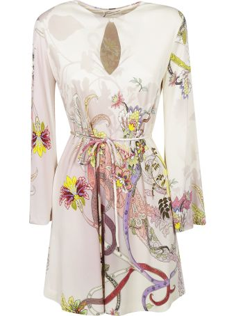 Etro Floral Print Long-sleeved Dress