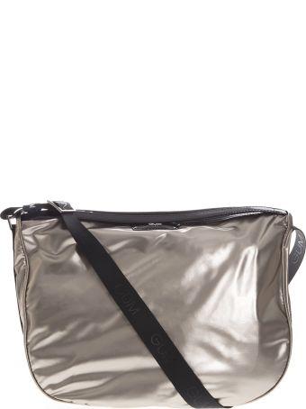Gianni Chiarini Platinum Shoulder Bag In Synthetic Fabric