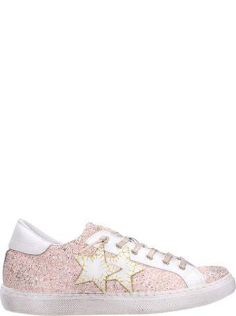 2Star Low Pink Glitter Sneakers