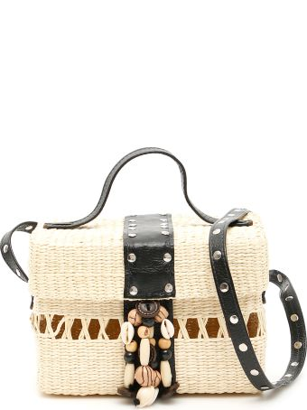 Sensi Studio Wicker Box Bag