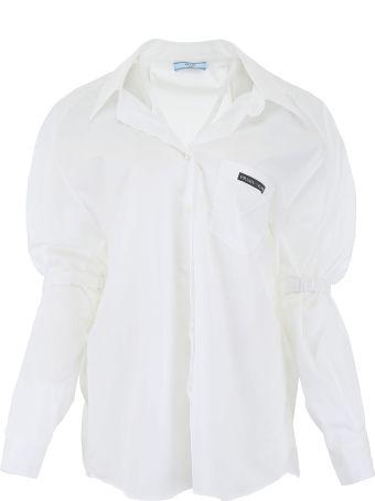 Prada Off-shoulder Shirt