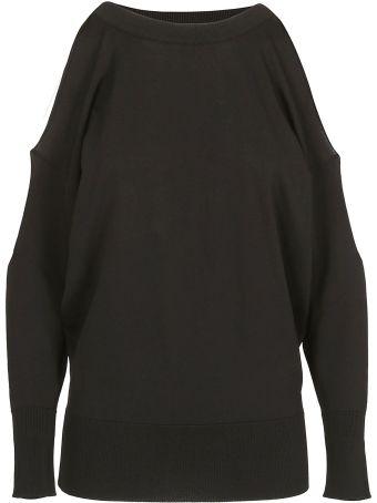 Erika Cavallini Cut Out Shoulder Sweater