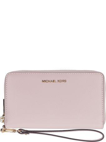 Michael Kors Grainy Leather Continental Wristlet