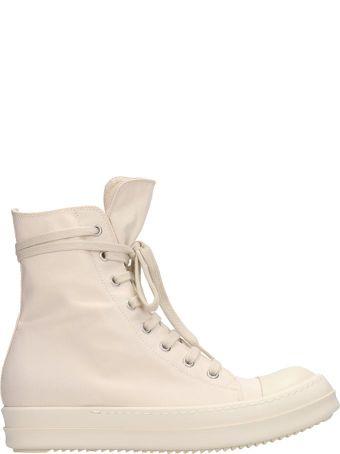 DRKSHDW White Fabric Snekaers
