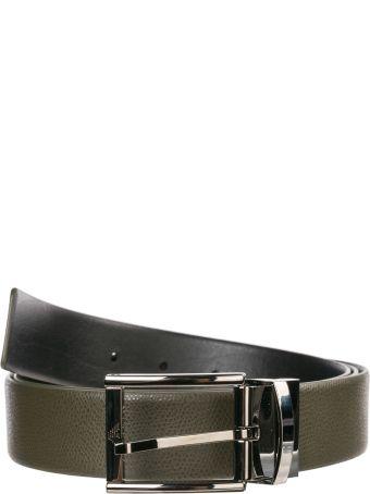 Emporio Armani  Adjustable Length Reversible Leather Belt