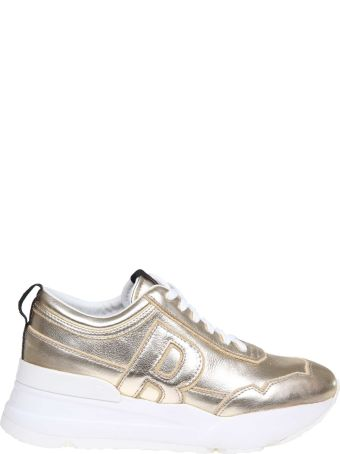 Ruco Line Rucoline Sneakers R-evolve In Platinum Laminated Leather