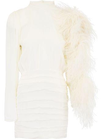 Magda Butrym Dubai Dress With Feathers
