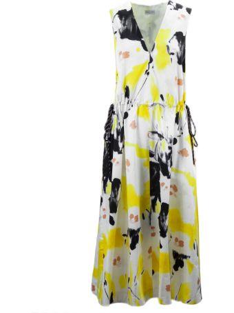 Dries Van Noten Yellow Floral Cotton Dress